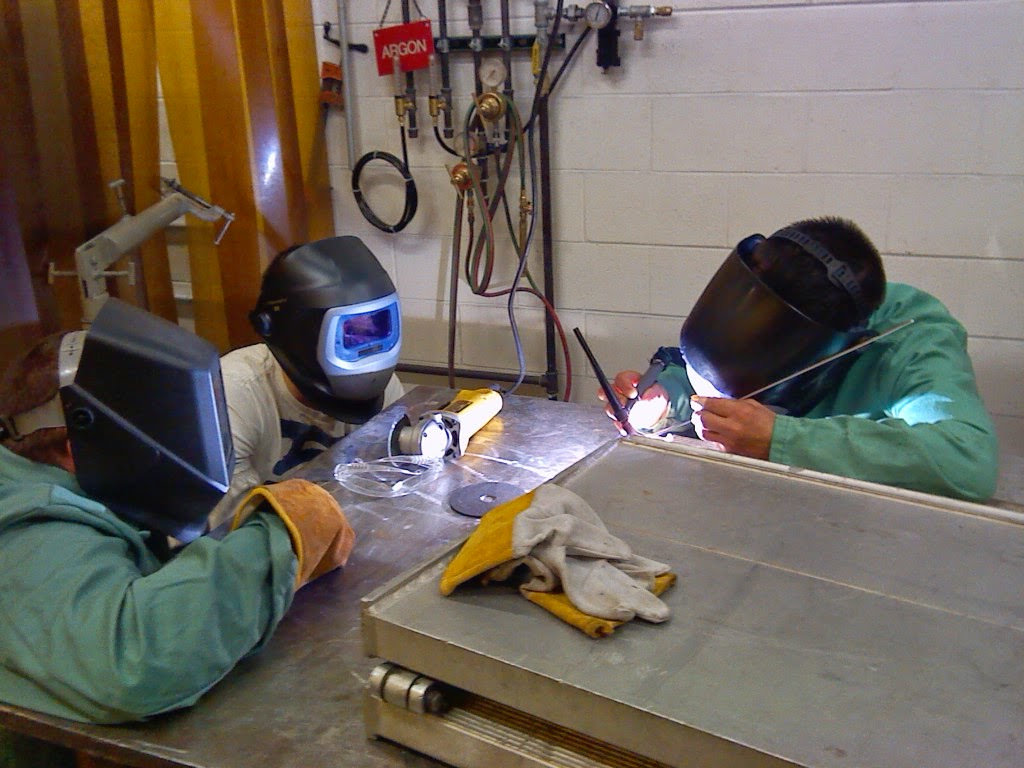 Student Tackles Large Welding Project on a welding school