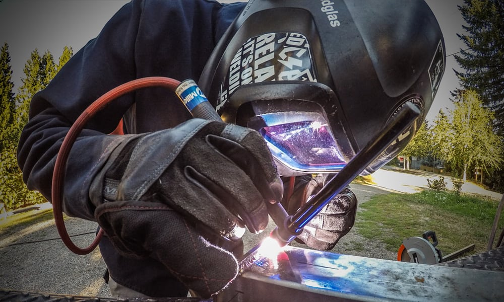 using a mig wire welder