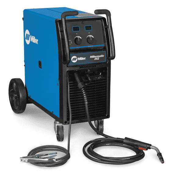 Miller Millermatic 252 MIG Welder, 200 V 200 Amps At 28 Volt At 60% Duty Cycle Single Phase 207 lb,